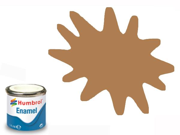 Humbrol 14ml 119 Enamel Paint 119 Matt Light Earth