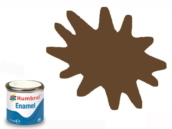 Humbrol 14ml 160 Enamel Paint 160 Matt German Camouflage Red Brown