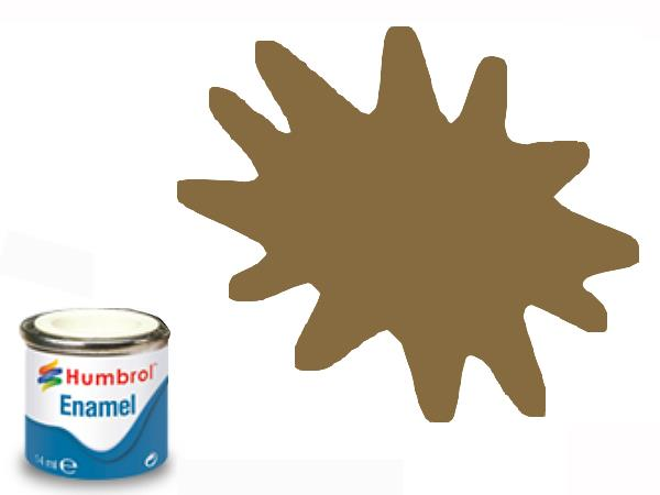 Humbrol 14ml 186 Enamel Paint 186 Matt Brown