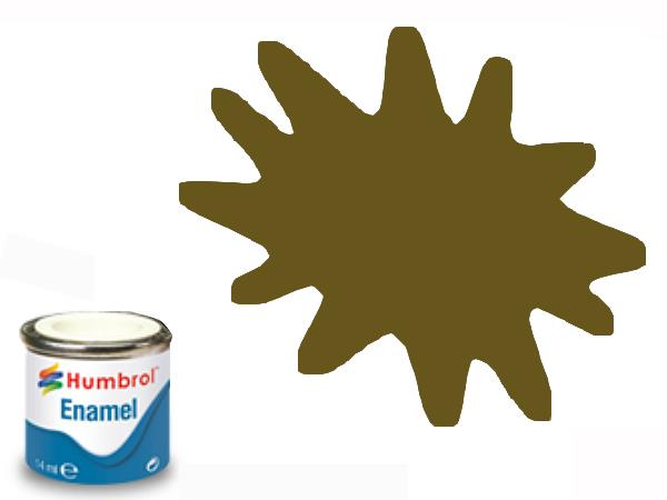 Humbrol 14ml 187 Enamel Paint 187 Matt Dark Stone
