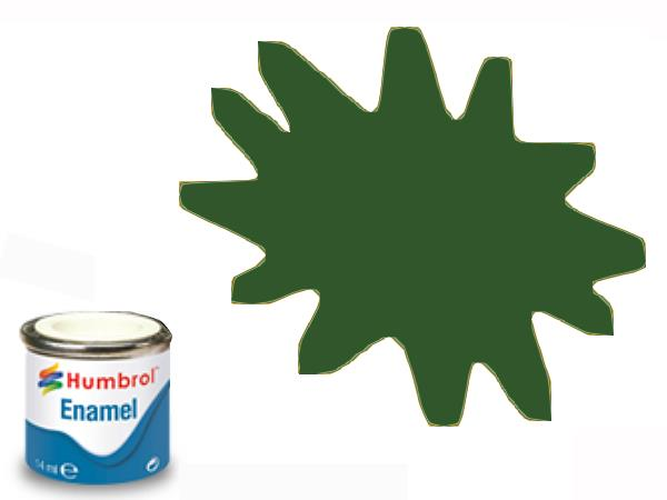Humbrol 14ml 3 Enamel Paint 003 Gloss Brunswick Green
