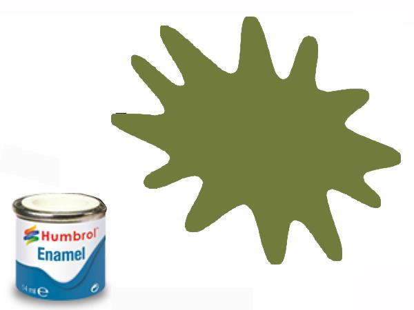 Humbrol 14ml 88 Enamel Paint 088 Matt Deck Green