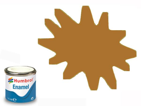 Humbrol 14ml 9 Enamel Paint 009 Gloss Tan