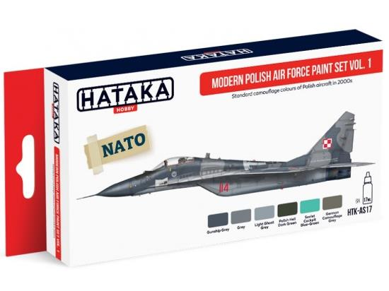 Hataka 6x 17ml AS17 Acrylic Paint Set - Modern Polish Air Force Vol 1