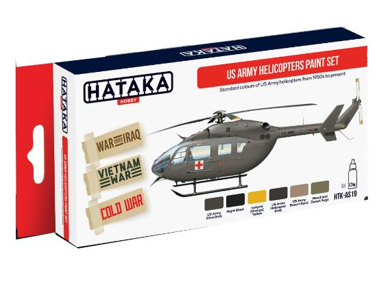 Hataka 6x 17ml AS19 Acrylic Paint Set - US Army Helicopters