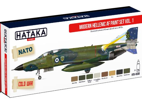 Hataka 8 x 17ml AS68 Acrylic Paint Set - Modern Hellenic AF vol. 1