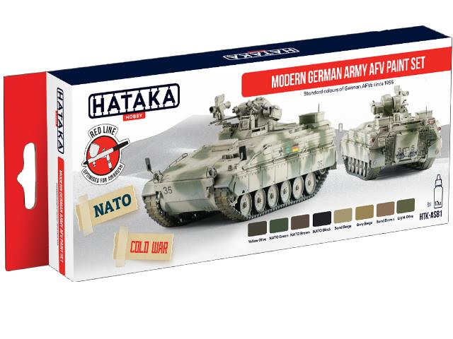 Hataka 8x 17ml AS81 Acrylic Paint Set - Modern German Army AFV