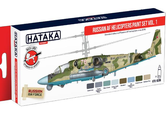 Hataka 8 x 17ml AS86 Acrylic Paint Set - Russian AF Helicopters vol. 1