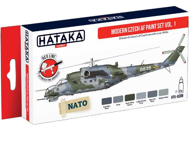 Hataka 6 x 17ml AS89 Acrylic Paint Set - Modern Czech AF Vol. 1