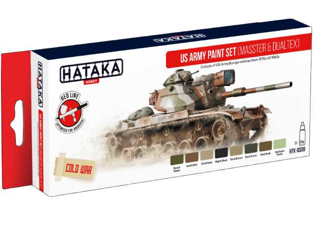 Hataka 8 x 17ml AS99 Acrylic Paint Set - US Army paint set (MASSTER & DUALTEX)