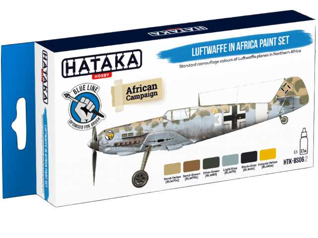 Hataka 6 x 17ml BS06-2 Arylic Paint Set - Luftwaffe in Africa (for hand brushing)