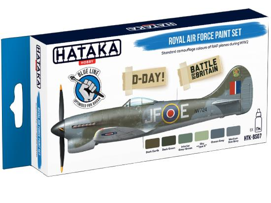 Hataka 6 x 17ml BS07 Acrylic Paint Set - Royal Air Force (for hand brushing)