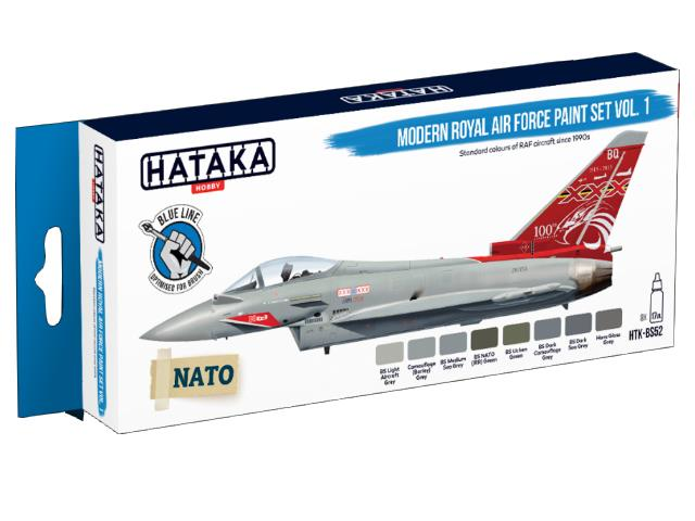 Hataka 8 x 17ml BS52 Acrylic Paint Set - Modern Royal Air Force (for hand brushing)
