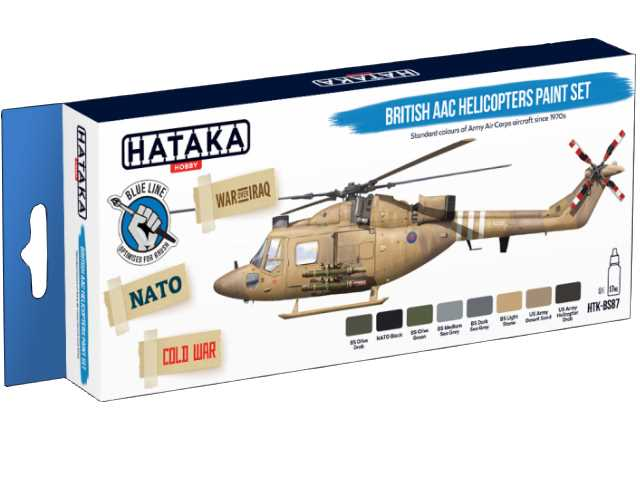Hataka 8 x 17ml BS87 Acrylic Paint Set - British AAC Helicopters (for hand brushing)