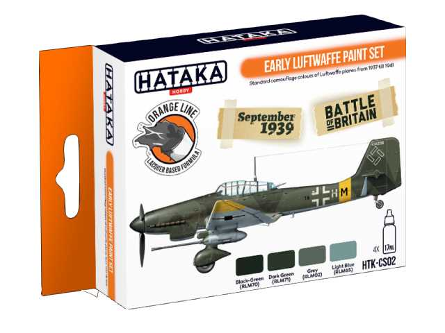 Hataka 4 x 17ml CS02 Laquer Paint Set - Early Luftwaffe