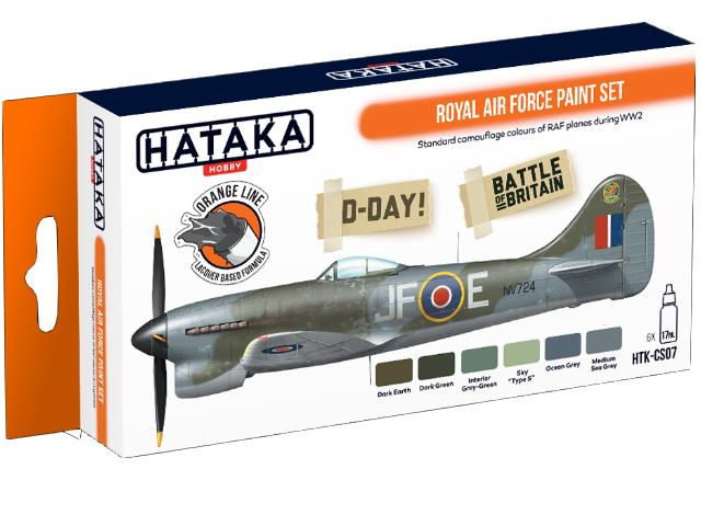 Hataka 6 x 17ml CS07 Laquer Paint Set - Royal Air Force
