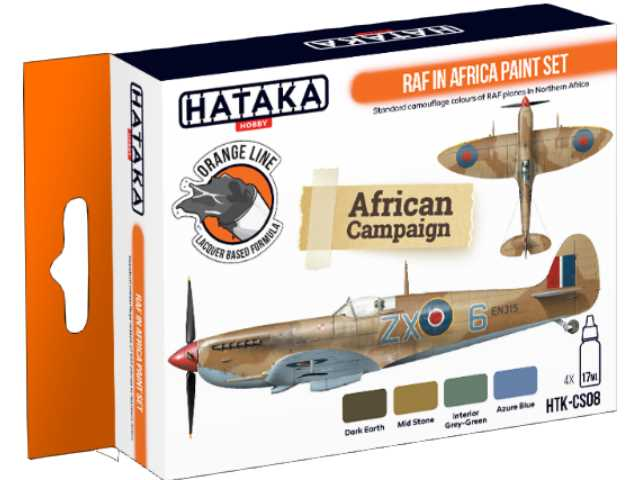 Hataka 4 x 17ml CS08 Laquer Paint Set - RAF in Africa