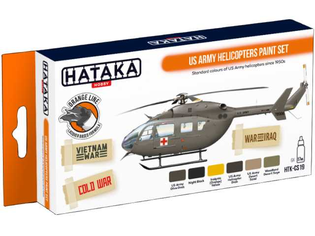 Hataka 6 x 17ml CS19 Laquer Paint Set - US Army Helicopters
