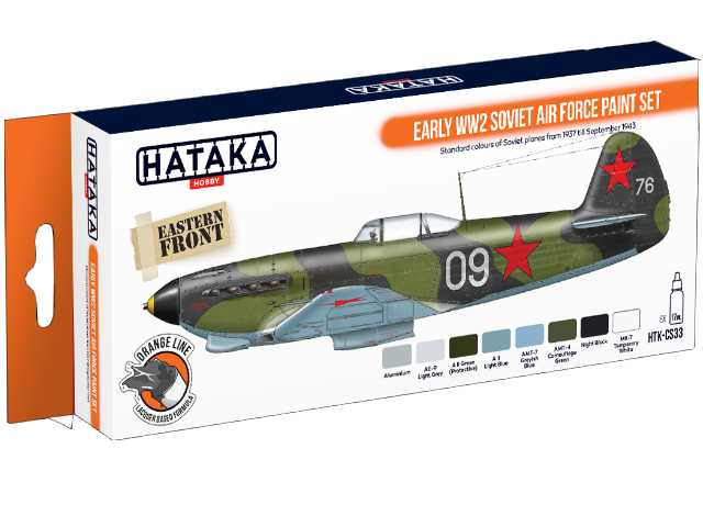 Hataka 8 x 17ml CS33 Laquer Paint Set - Early WW2 Soviet Air Force