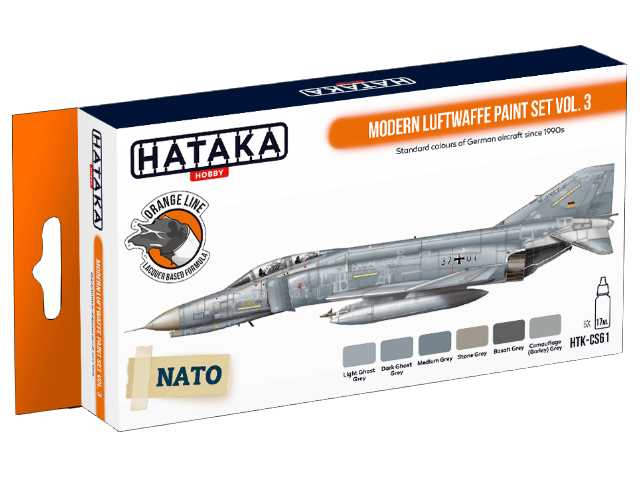 Hataka 6 x 17ml CS61 Laquer Paint Set - Modern Luftwaffe vol. 3