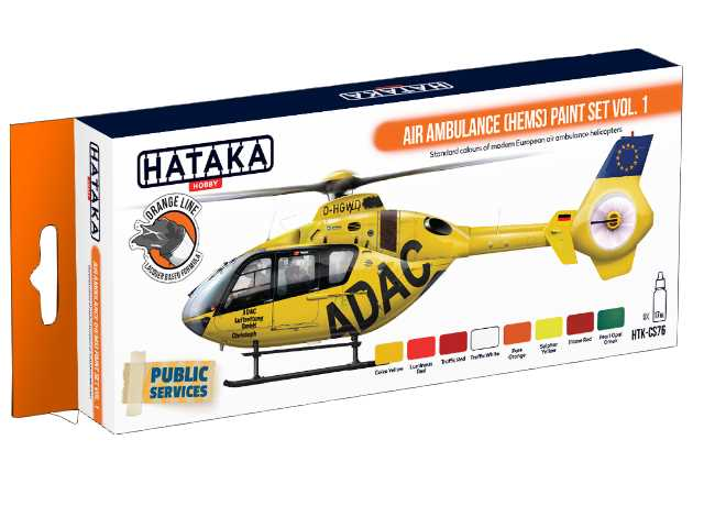 Hataka 8 x 17ml CS76 Laquer Paint Set - Air Ambulance (HEMS) vol. 1