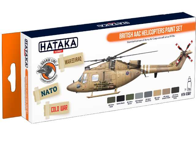 Hataka 8 x 17ml CS87 Laquer Paint Set - British AAC Helicopters