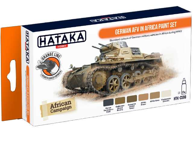 Hataka 6 x 17ml CS90 Laquer Paint Set - German AFV in Africa