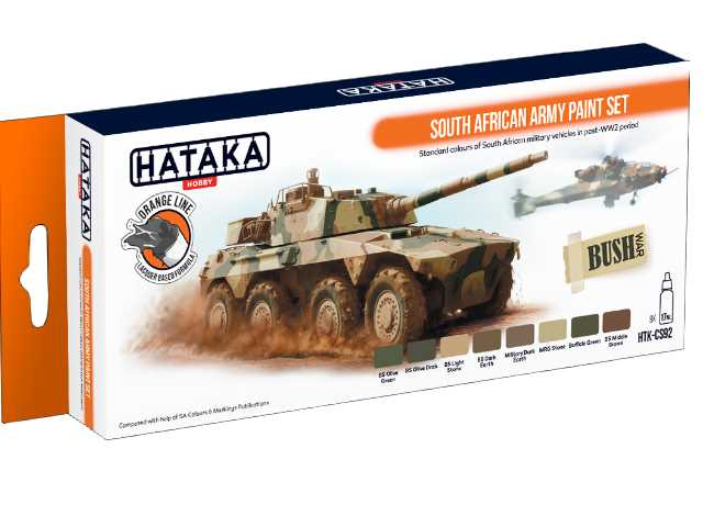 Hataka 8 x 17ml CS92 Laquer Paint Set - South African Army