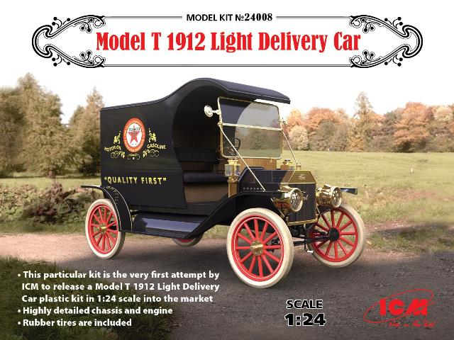 ICM 1/24 24008 Model T 1912 Light Delivery Car