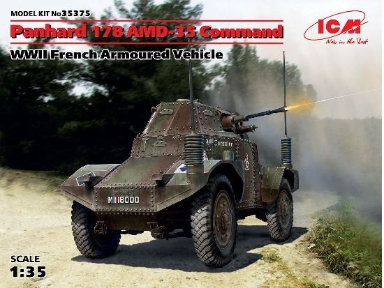 ICM 1/35 35375 Panhard 178 AMD-35 Command - WWII French Armoured Vehicle
