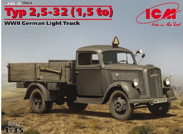 ICM 1/35 35401 Typ 2.5-32 (1 to), WWII German Light Truck