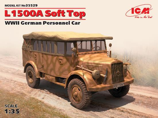ICM 1/35 35529 L1500A Soft Top WWII German Personnel Car