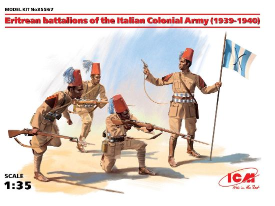 ICM 1/35 35567 Eritrean battalions of the Italian Colonial Army (1939-1940) (4 figures)