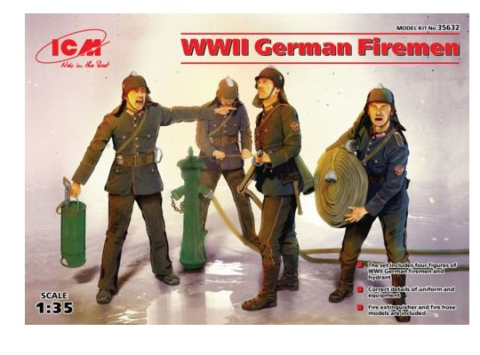 ICM 1/35 35632 - WWII German Firemen (4 figures)
