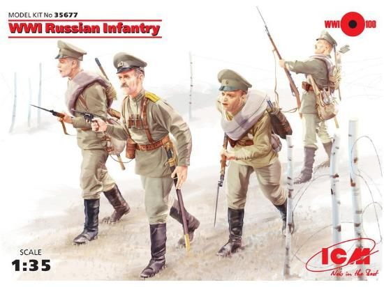 ICM 1/35 WWI Russian Infantry, 35677