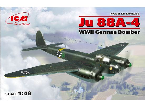 ICM 1/48 48233 Junkers Ju 88A-4 WWII German Bomber