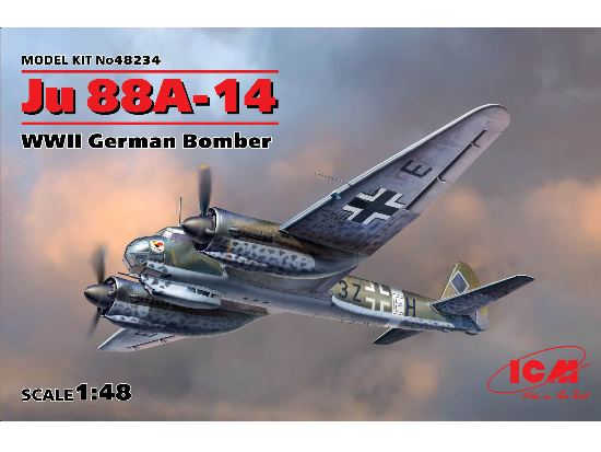 ICM 1/48 48234 Junkers Ju 88A-14 WWII German Bomber