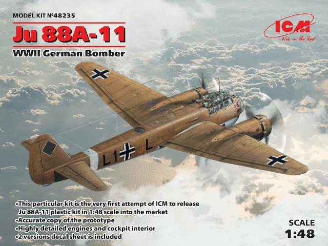 ICM 1/48 48235 Junkers Ju-88A-11 WWII German Bomber