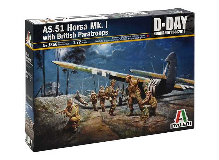 Italeri 1/72 1356 AS.51 Horsa Mk.I w/ British Paratroops