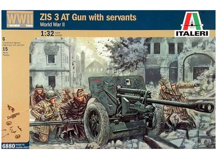 Italeri ZIS-3 Anti-Tank Gun with Crew