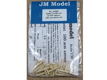 JM Models 1/35 35028  Soviet D-10S/T cannon 100 mm ammo