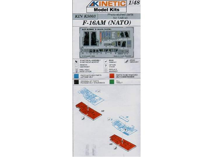 Kinetic 1/48 K5003 F-16AM (NATO) Colour Rhoto Etched Parts for Kinetic 1/48 Kit