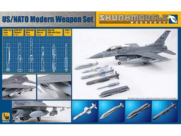 Kinetic 1/48 SW48006 US/Nato Modern Weapons Set