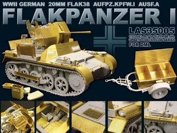 Lion Roar - Photoetch Super Detail Set for WWII German Flakpanzer I for Dragon 1/35 #LAS35005