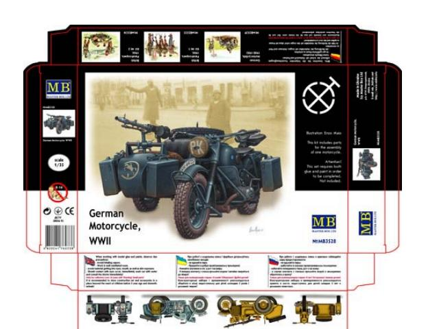 Master Box 1/35 3528 German Motorcycle and Sidecar WWII