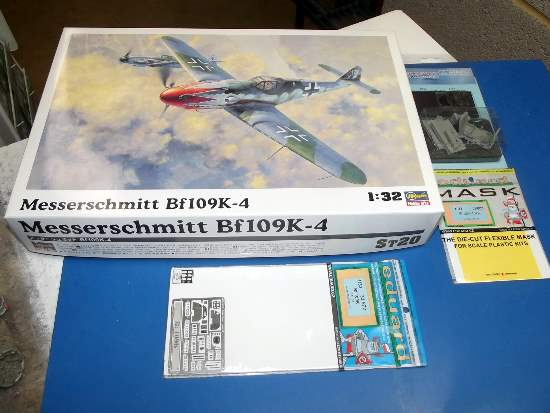 Hasegawa 1/32 ST20 Me Bf109K-4 w/ Extras Date: 00's