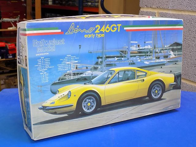 Fujimi 1/24 EM17 Ferrari Dino 246GT Early Type - Enthusiasts Model Date: 90's