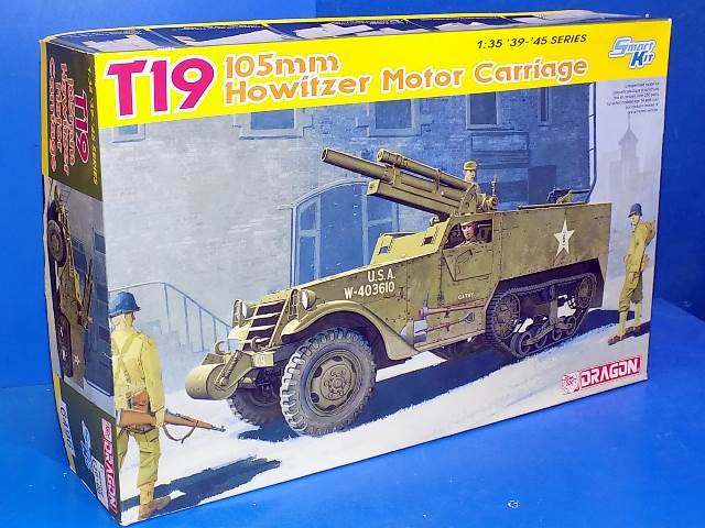 Dragon 1/35 6496 T19 105mm Howitzer Motor Carriage Date: 00's