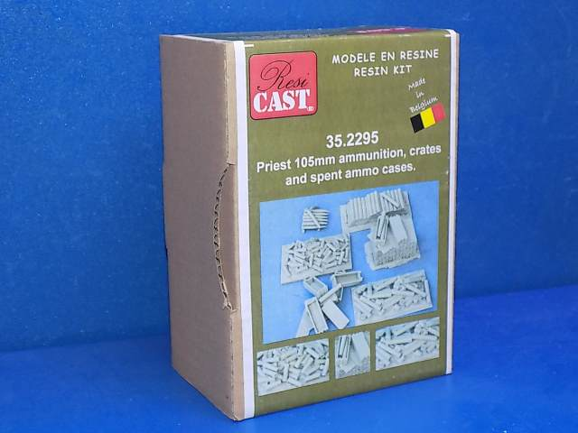 Resicast 1/35 352295 Priest 105mm Ammunition, Crates and Spent Ammo Cases Date: 00's