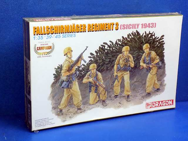Dragon 1/35 6195 Fallschirmjager Regiment 3 Sicily 1943 Date: 00's